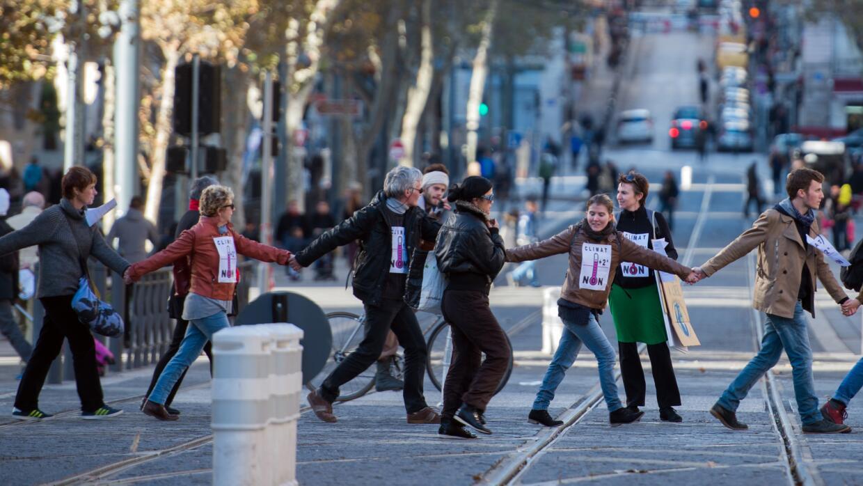 Cadena humana en París