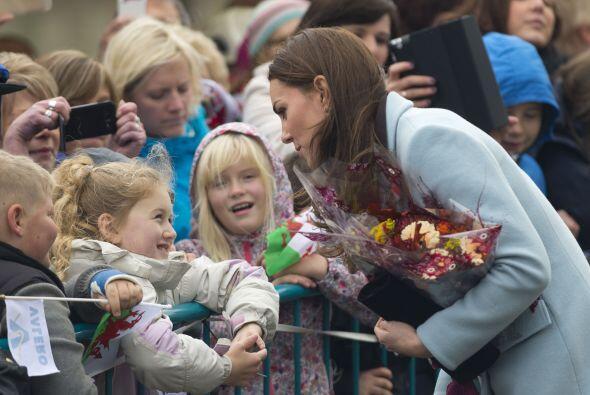Kate siempre amable con las personas.