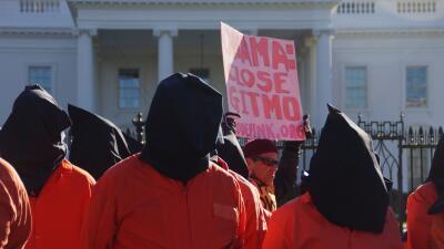 Protestas antiGuantánamo frente a la Casa Blanca