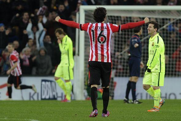 ya con un gol dedifernecia, el Bilbao se lanzó en busca del empate, pero...