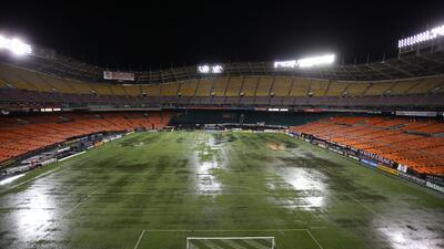 Posponen por lluvia el D.C. United-Real Salt Lake en el Estadio RFK USAT...