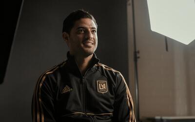Carlos Vela en su presentación con LAFC