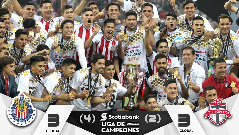 Chivas se proclamó campeón de la Liga de Campeones.