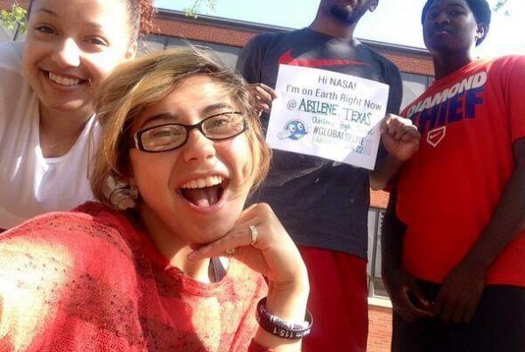 Y estos estudiantes de Abilene, Texas también tomaron su #EarthDay #Glob...