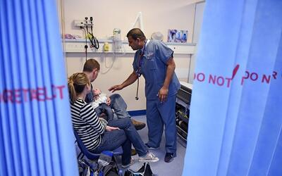 30% de los niños que fueron llevados a salas de urgencias por sob...