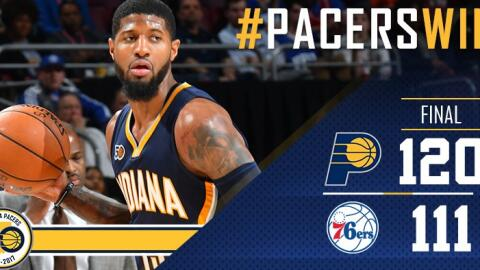 Paul George anotó 27 puntos, incluidos 17 en el primer periodo.