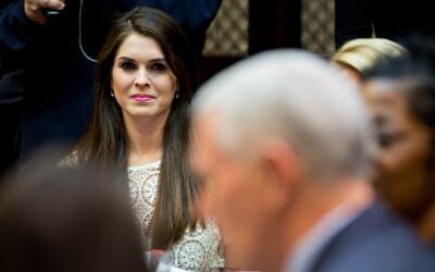 Hope Hicks ha sido una activa asesora de Trump tras bastidores.