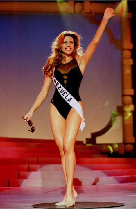 A thin and charismatic Alicia Machado traveled to Las Vegas, Nevada, to...