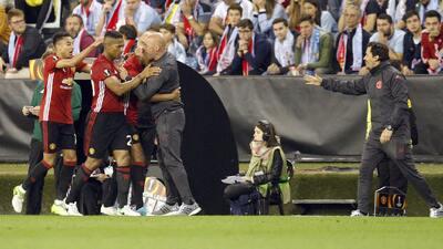 Un solitario gol de Rashford le dio la ventaja al United sobre el Celta camino a Estocolmo