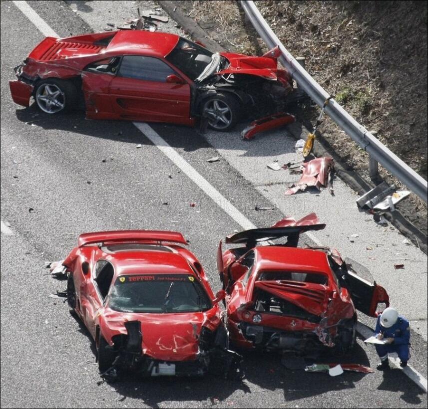 Estos son los accidentes de autos más caros de la historia the-most-expe...