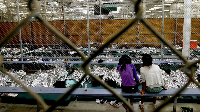 Centro de detención de la Patrulla Fronteriza en Texas.