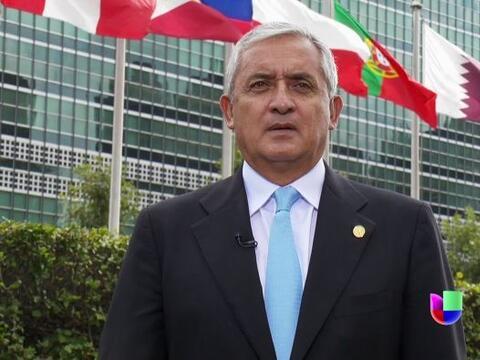 El presidente de Guatemala, Otto Pérez, concedió una entre...