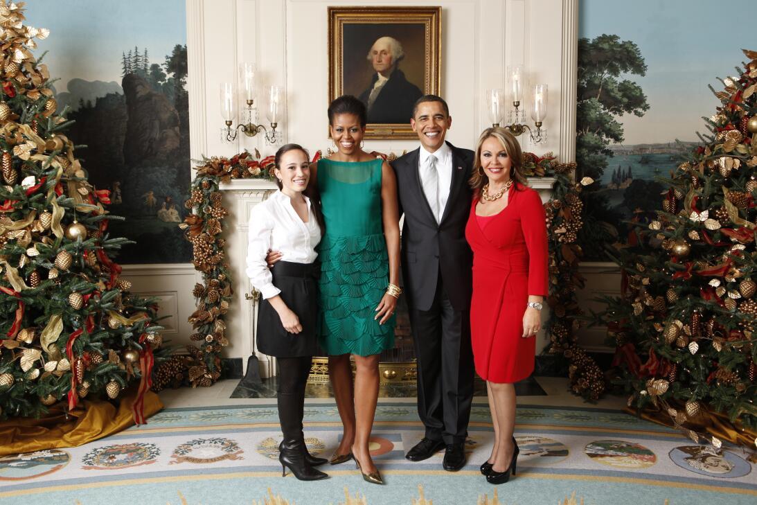 Maria Elena Salinas y Barack Obama