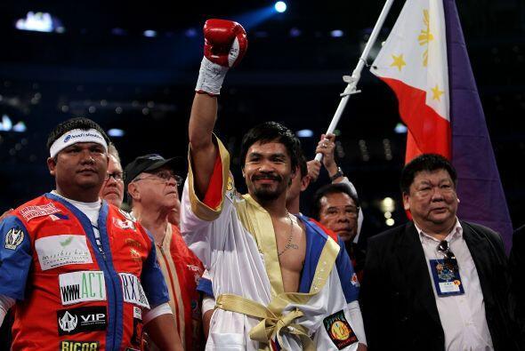 Manny Pacquiao, sencillo como ha sido siempre, compartió su orgul...