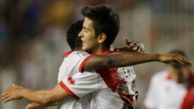 Alberto Bueno hizo un doblete ante Celta.