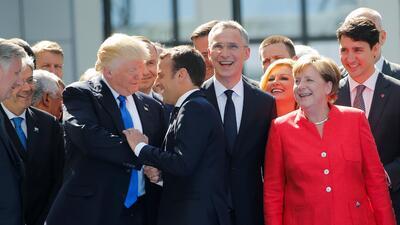 Las fotografías inolvidables del primer viaje internacional del presidente Donald Trump