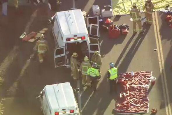 Inicialmente se reportó a 30 personas atendidas por heridas, fuer...