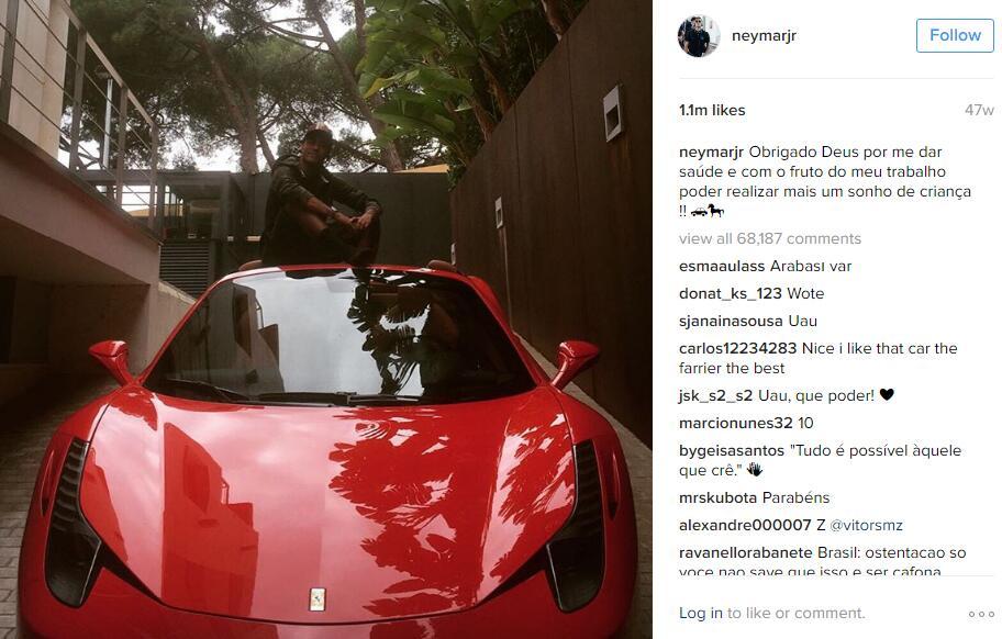 Los autos de Neymar Jr.