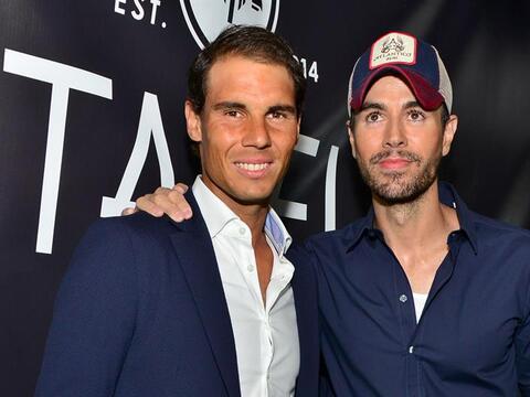 Rafael Nadal y Enrique Iglesias representaron a sus otros socios en la a...