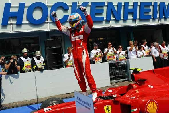 Alonso logró así su segunda victoria de la temporada Fórmula 1 2010.