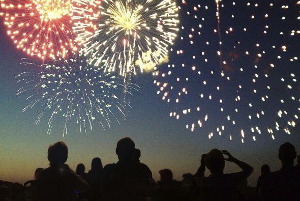Fuegos artificiales. En Estados Unidos se asocian al 4 de julio, pero en...