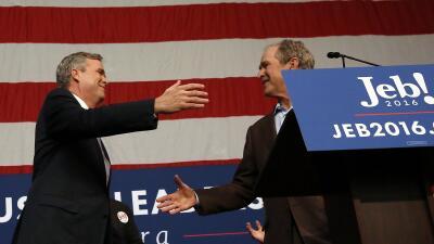 George Bush y Jeb Bush
