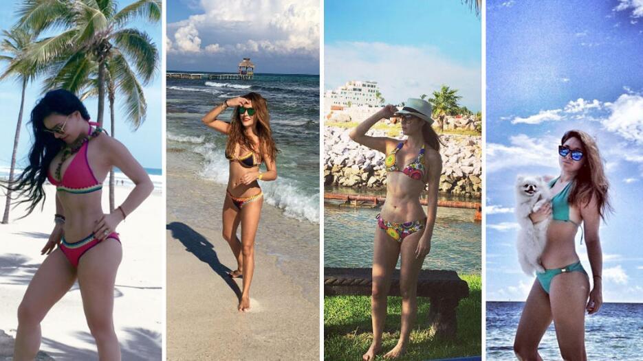 Actrices de novela en bikini 2016
