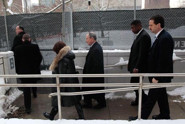 El alcalde Michael Bloomberg declaró una emergencia climática ayer por l...