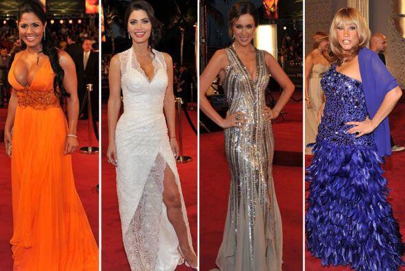 Muchas de las que desfilaron en la alfombra de Premios Lo Nuestro brilla...