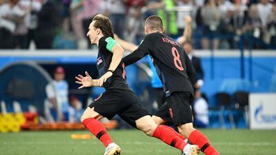 En fotos: El discreto partido de Luka Modric contra Dinamarca