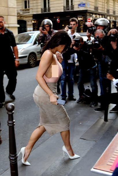 Kim tampoco lucía muy feliz.Mira aquí lo último en chismes.