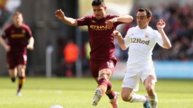 Manchester City y Swansea peleaban poco y se notó.
