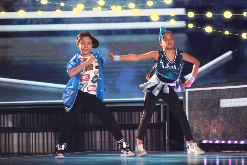 Andrea y Patricia deslumbran con un 'hip hop' en Pequeños Gigantes