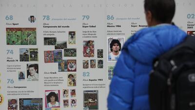 Argentina exhibe sus estampas para atraer la suerte para su selección