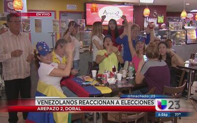 Venezolanos en Miami siguen las elecciones