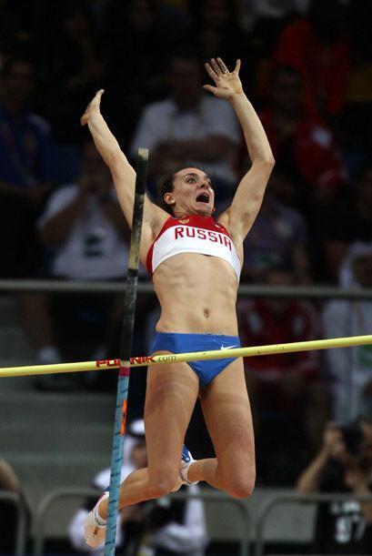 La pertiguista rusa Elena Isinbayeva no tuvo una buena actuación en Doha.