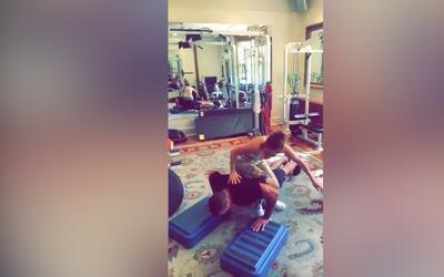 Jennifer López encima Alex Rodríguez: la divertida rutina de ejercicios...