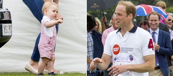 El príncipe fue captado en un juego de polo durante la celebraci&...