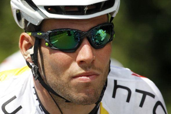 Por el lado contrario está el británico Mark Cavendish, quien cada día l...