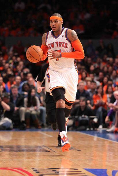 9 - Carmelo Anthony llegó a los Knicks de Nueva Yorke a media temporada...
