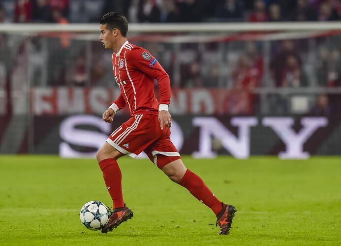 Mediocampista: James Rodríguez (F.C. Bayern Múnich)