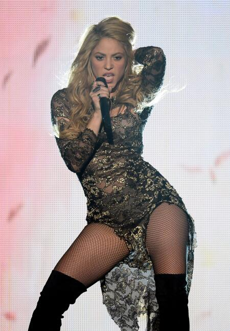 Singer Shakira performs during the 2014 Billboard Music Awards at the MG...
