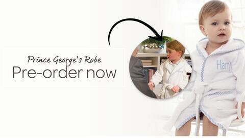 La bata del Príncipe George creada por la marca My 1st years est&...