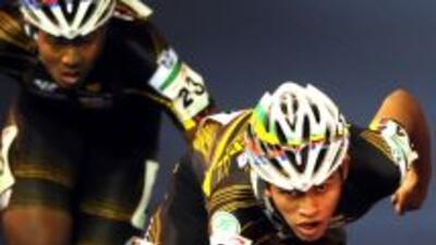 Nicolás Bermúdez (núm. 20) se encuentra entre los atletas colombianos ac...