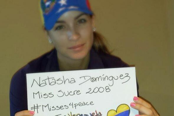 Natasha Domínguez ,Miss Sucre 2008, pidió rezar por Venzuela. Fotografía...