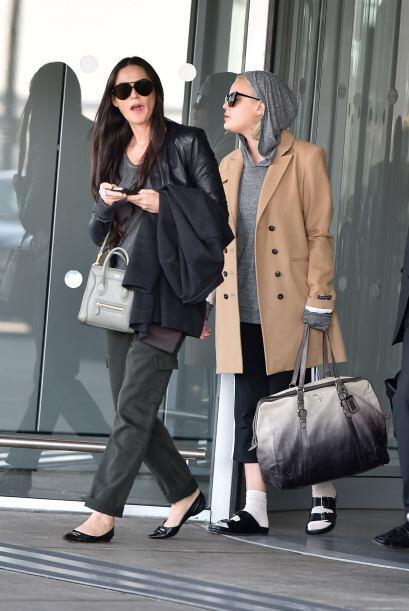 Madre e hija fueron vistas al llegar al aeropuerto JFK de Nueva York.