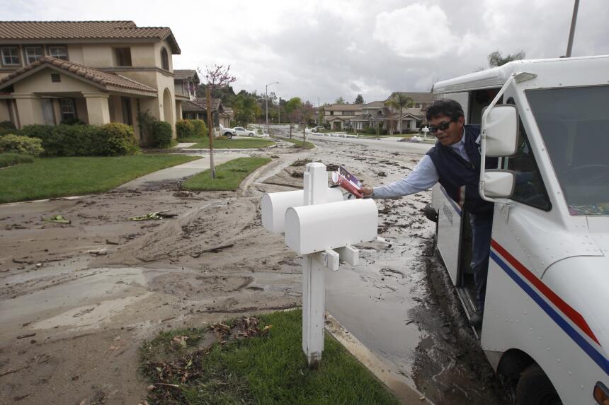Un gran deslave afectó a la localidad de Azusa, en el condado de Los Áng...