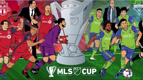 Ilustración de la MLS Cup 2017