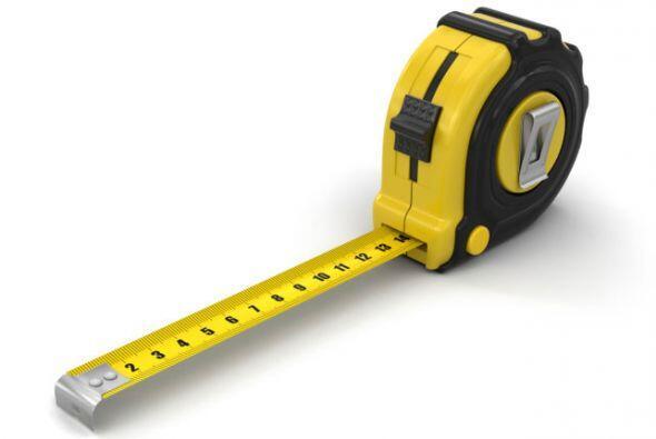Cinta de medir. Para medir tus materiales de trabajo o para calcular si...