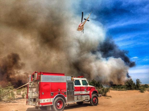Pirates Cove y Park Moabi son áreas en amenaza por las llamas.